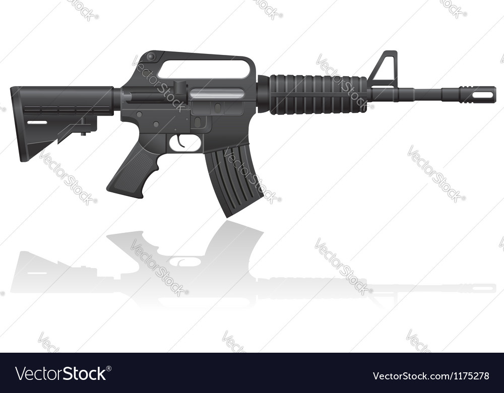 Automatic machine m 16 02 vector | Price: 1 Credit (USD $1)