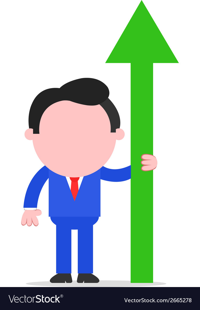 Businessman with arrow pointing up vector | Price: 1 Credit (USD $1)