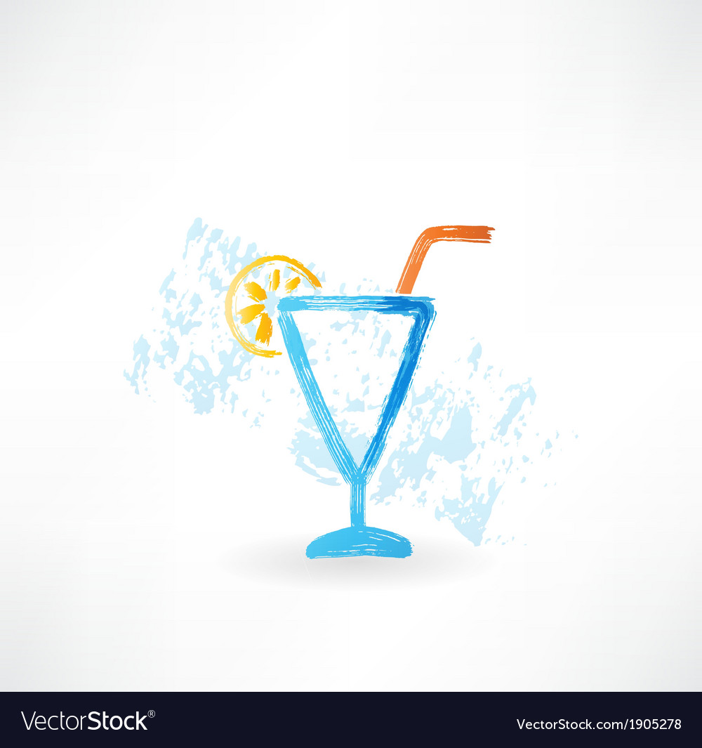 Cocktail grunge icon vector | Price: 1 Credit (USD $1)
