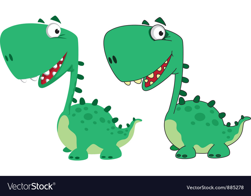Dino cartoon cute vector | Price: 3 Credit (USD $3)