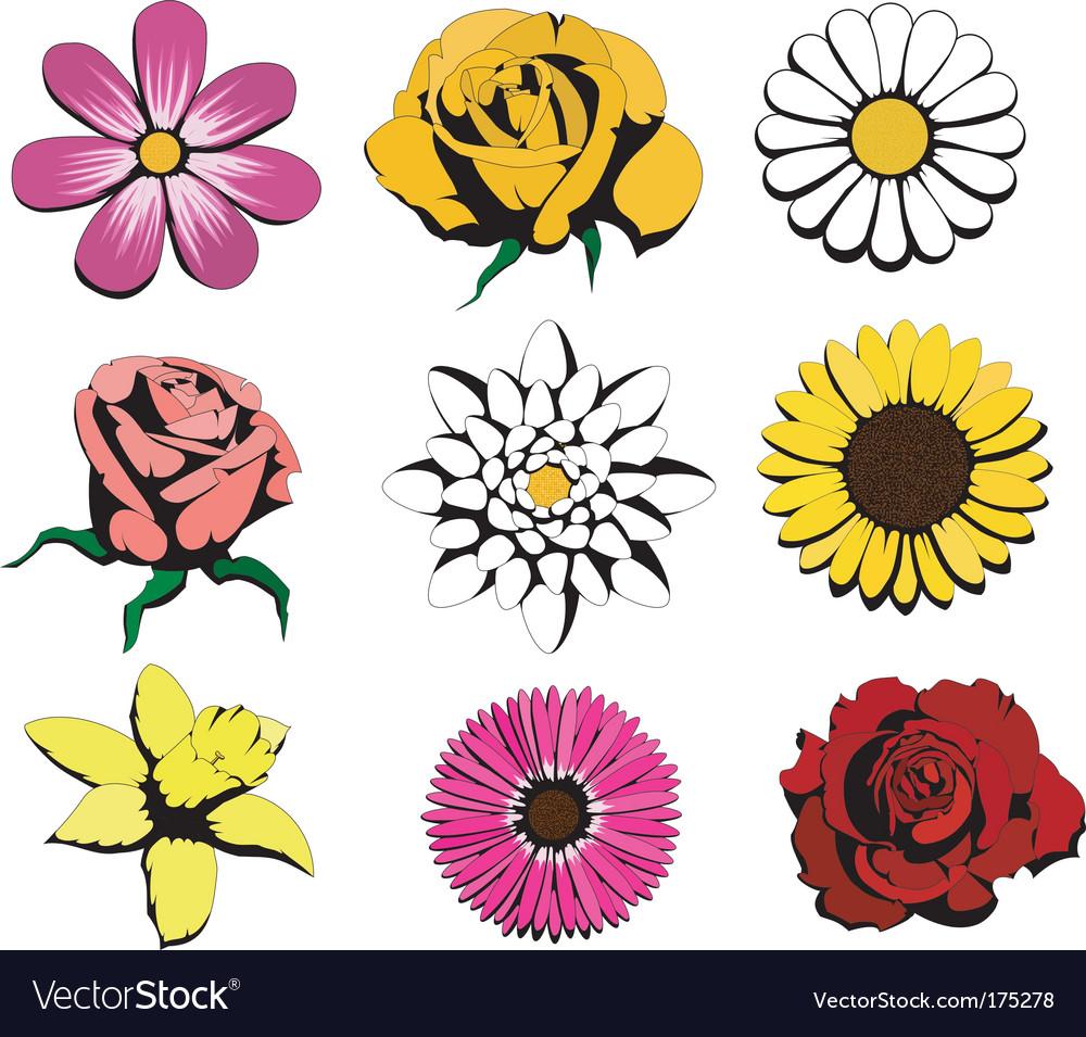 Flowers vector   Price: 1 Credit (USD $1)