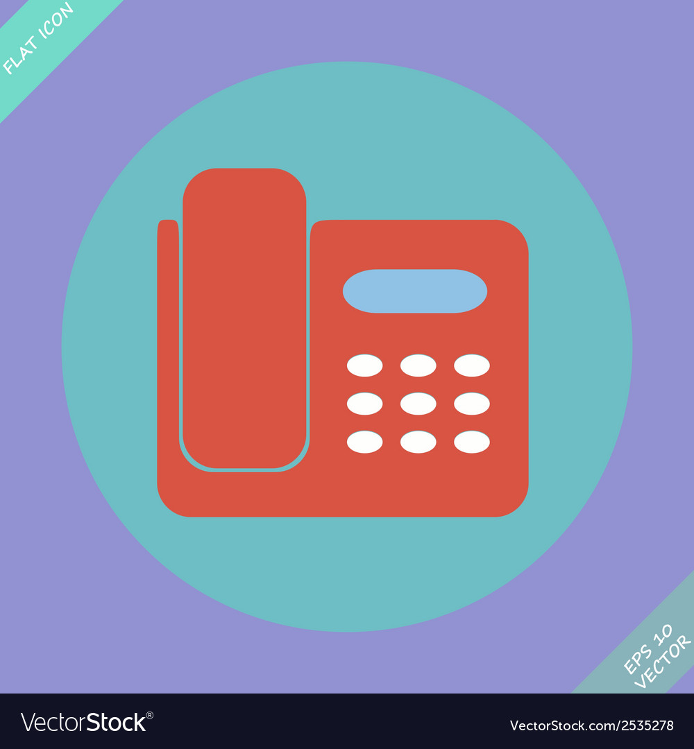 Icon of phone isolated - vector | Price: 1 Credit (USD $1)