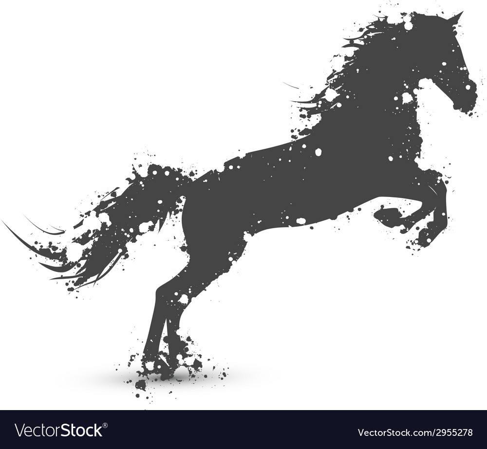 Ink splashes horse vector | Price: 1 Credit (USD $1)