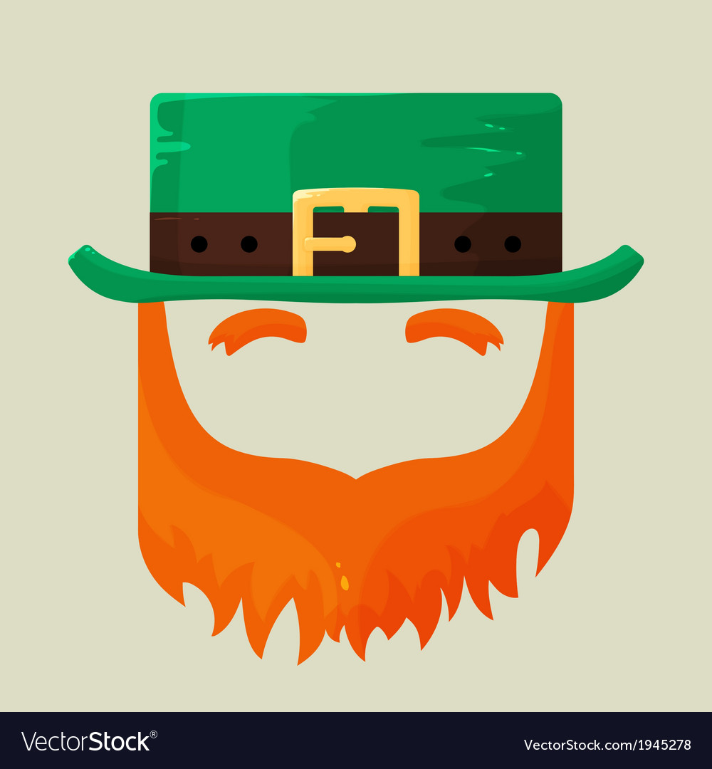 Irish st patricks day leprechaun icon vector | Price: 1 Credit (USD $1)