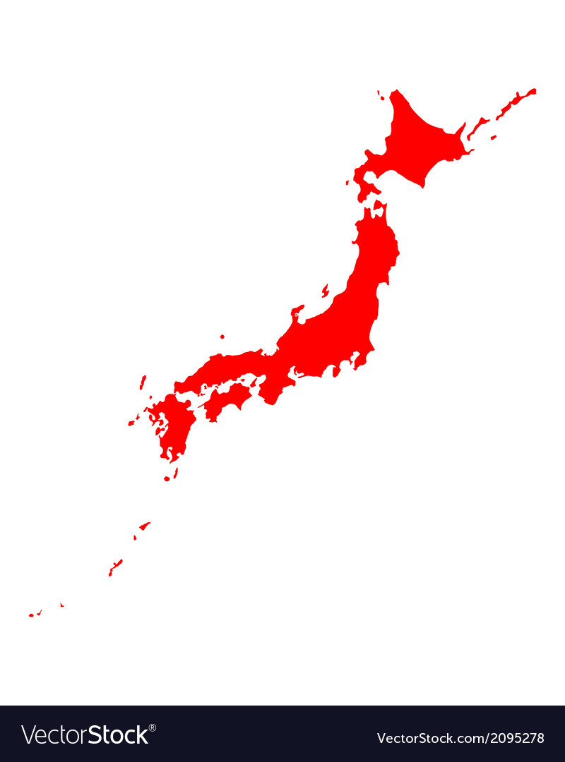 Map of japan vector | Price: 1 Credit (USD $1)