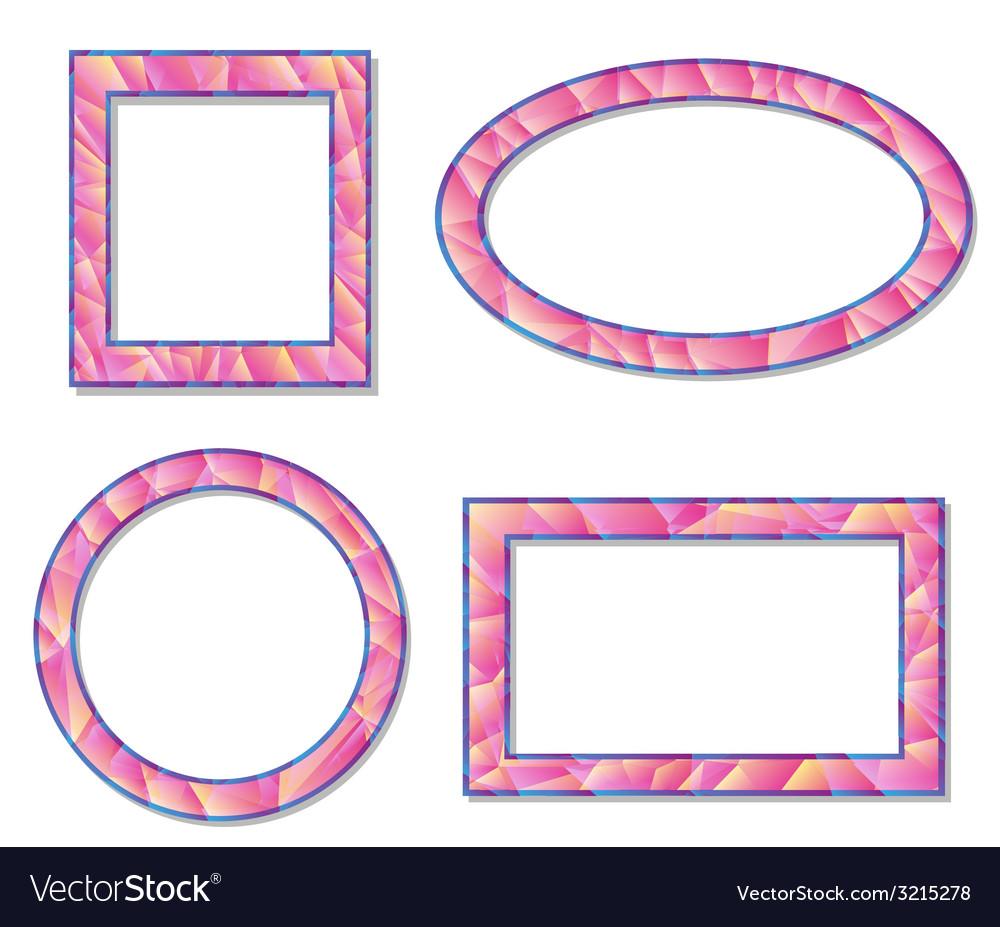 Set picture frame design elements vector | Price: 1 Credit (USD $1)