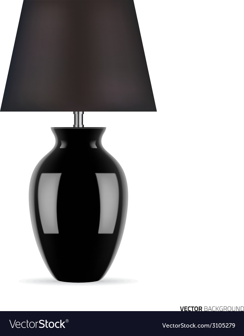 Black table lamp vector | Price: 1 Credit (USD $1)