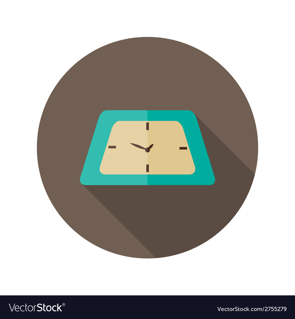 Clock icon over brown vector | Price: 1 Credit (USD $1)