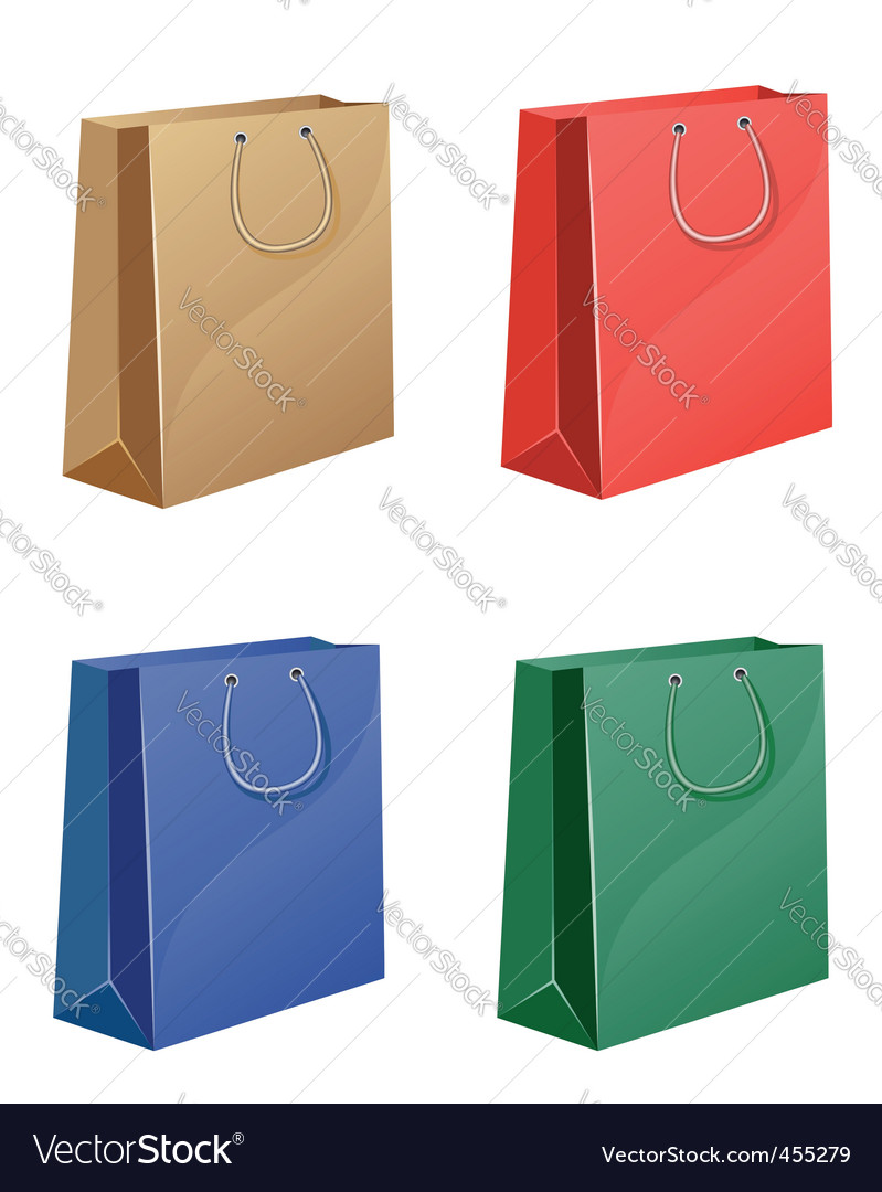 Coloured shopping bag vector | Price: 1 Credit (USD $1)
