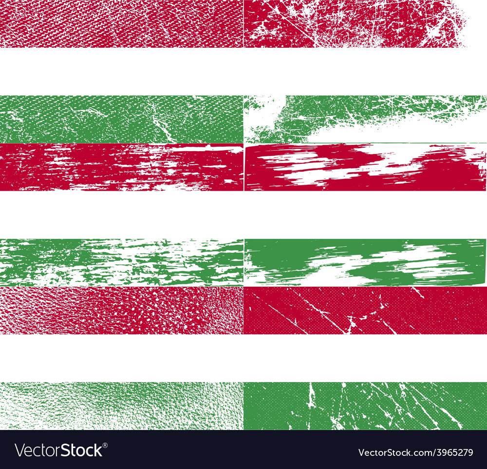 Flag of hugary with old texture vector | Price: 1 Credit (USD $1)