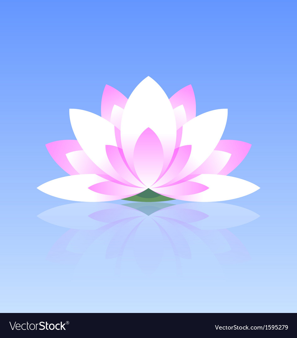 Lotus flower icon vector | Price: 1 Credit (USD $1)