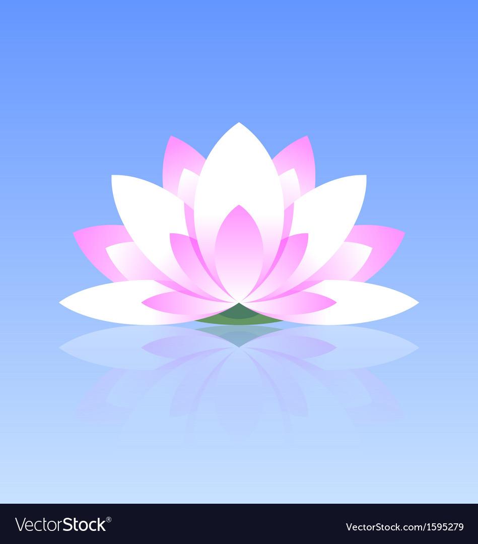 Lotus flower icon vector | Price: 1 Credit (USD $1)