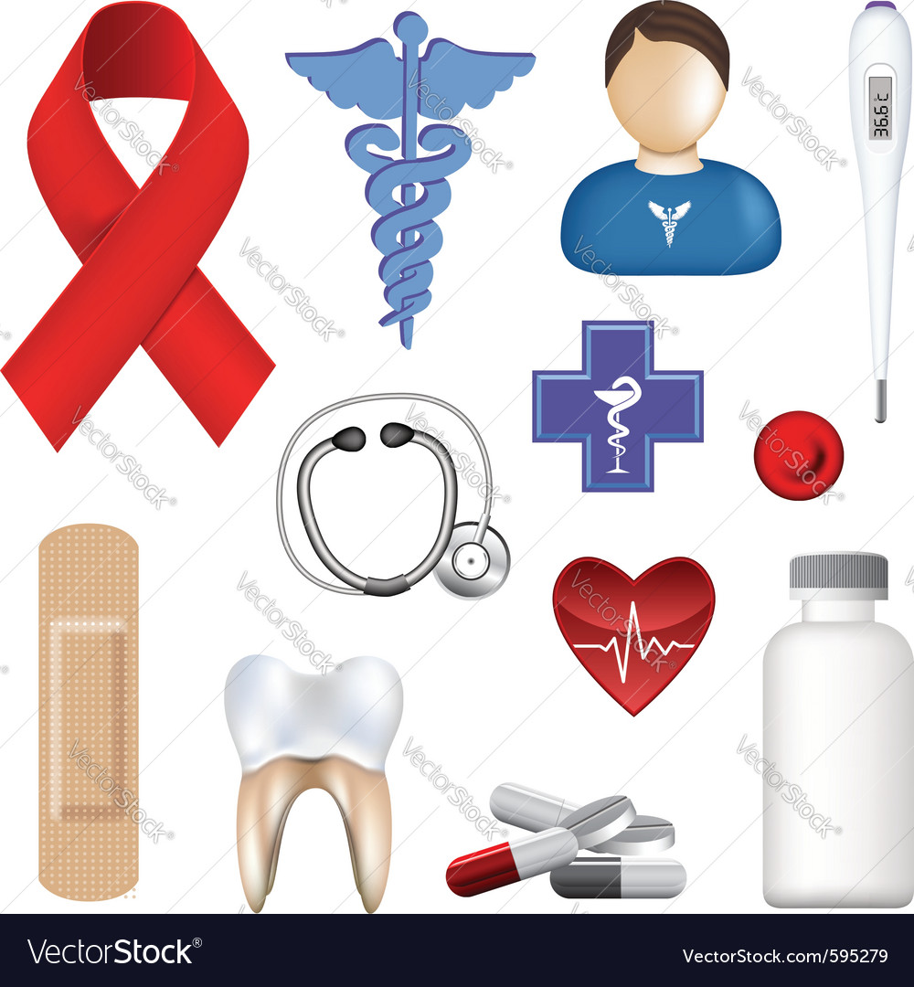 Medical objects vector | Price: 1 Credit (USD $1)