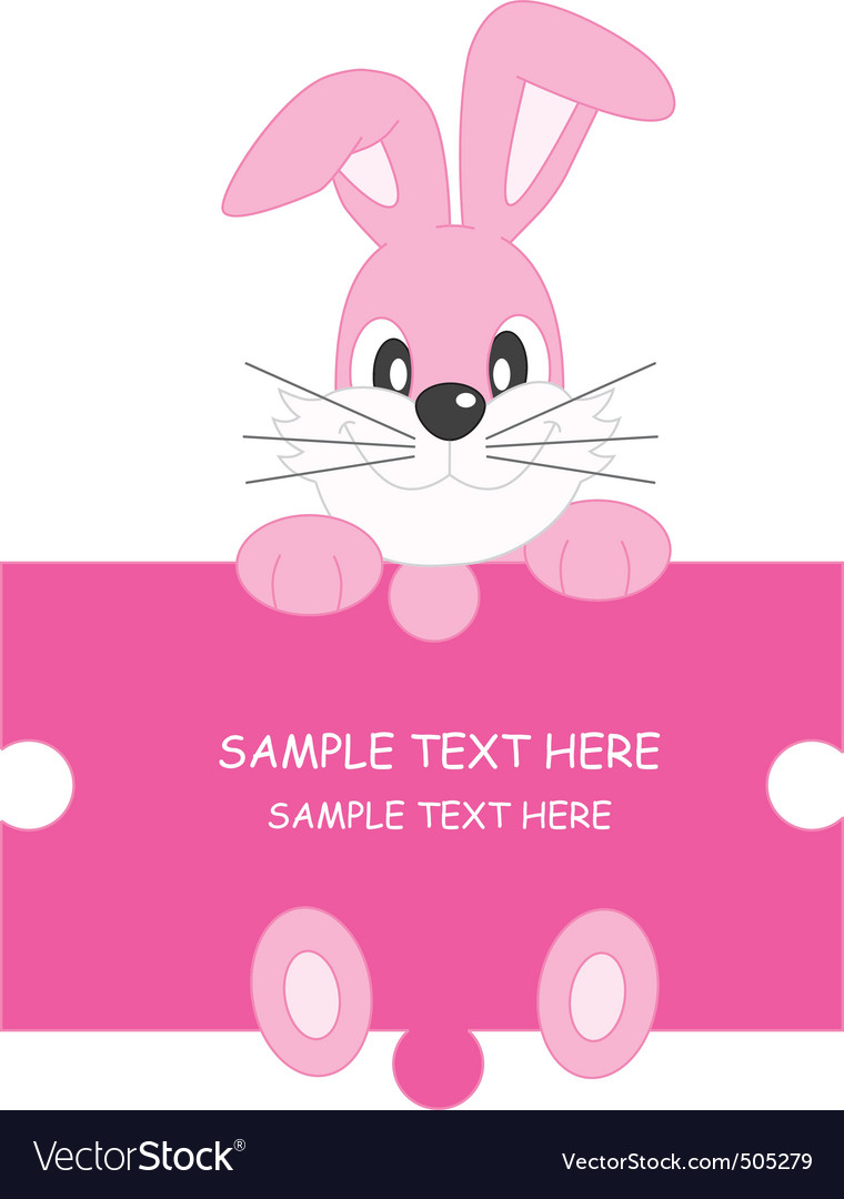 Rabbit pink vector | Price: 1 Credit (USD $1)