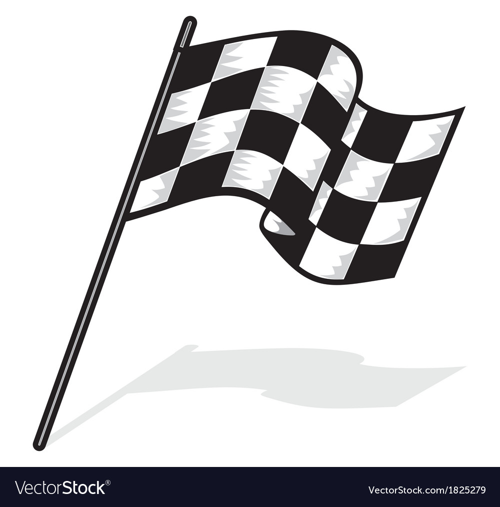 Racing flag jedna resize vector | Price: 1 Credit (USD $1)