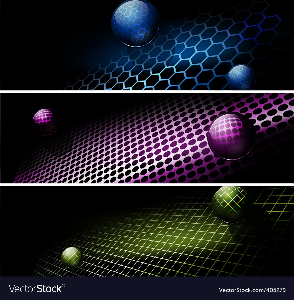 Tech banners vector | Price: 1 Credit (USD $1)