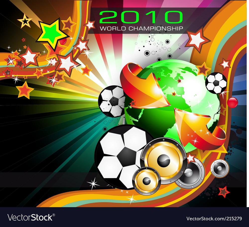 World football championship 2010 vector | Price: 3 Credit (USD $3)