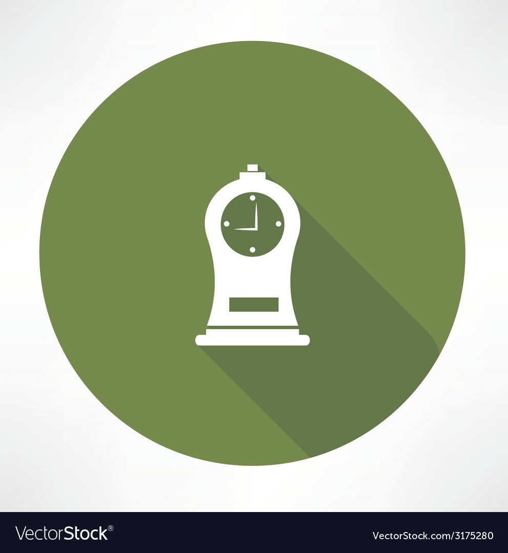 Antique clock icon vector | Price: 1 Credit (USD $1)