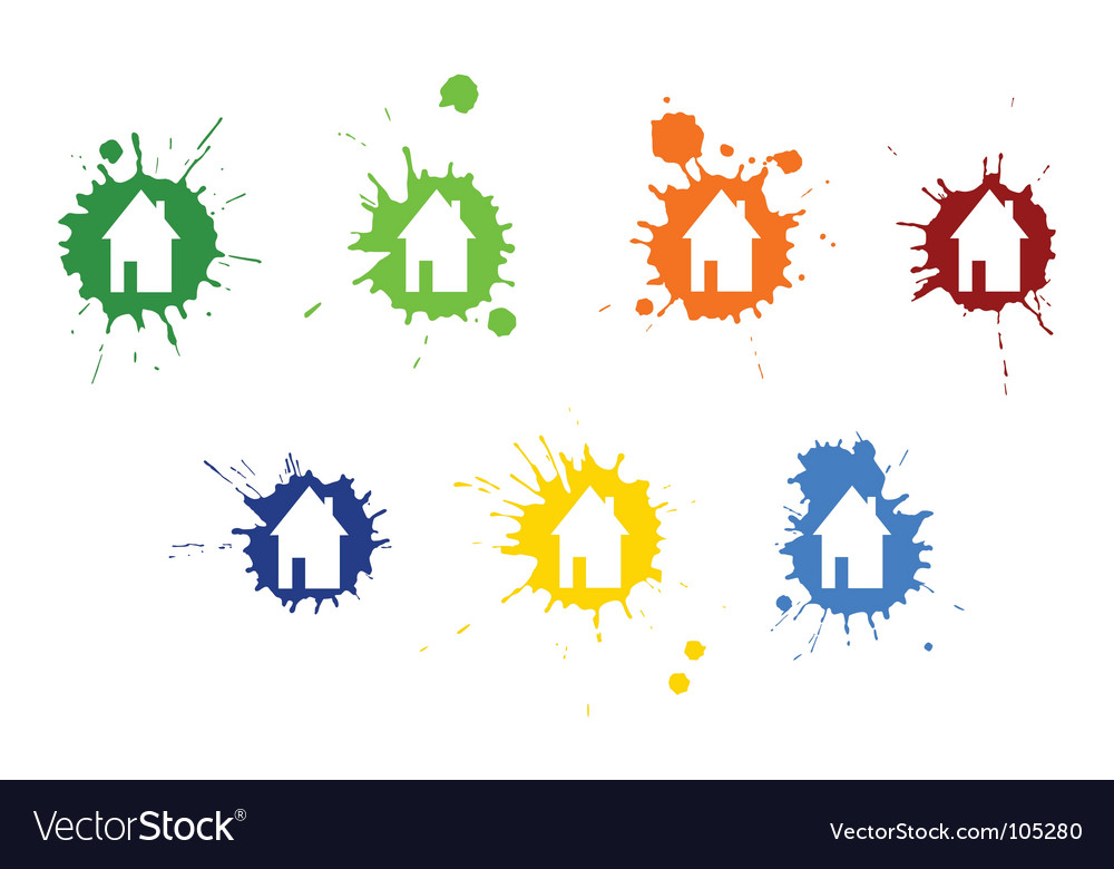 Blots houses vector | Price: 1 Credit (USD $1)
