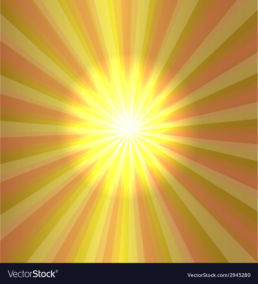 Burst stars light descending on yellow background vector | Price: 1 Credit (USD $1)