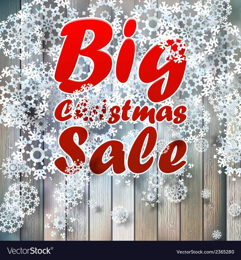 Christmas snowflakes with big sale vector | Price: 1 Credit (USD $1)