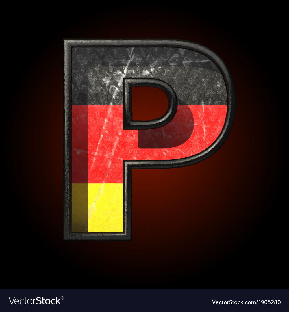 Germany cutted figure p vector | Price: 1 Credit (USD $1)