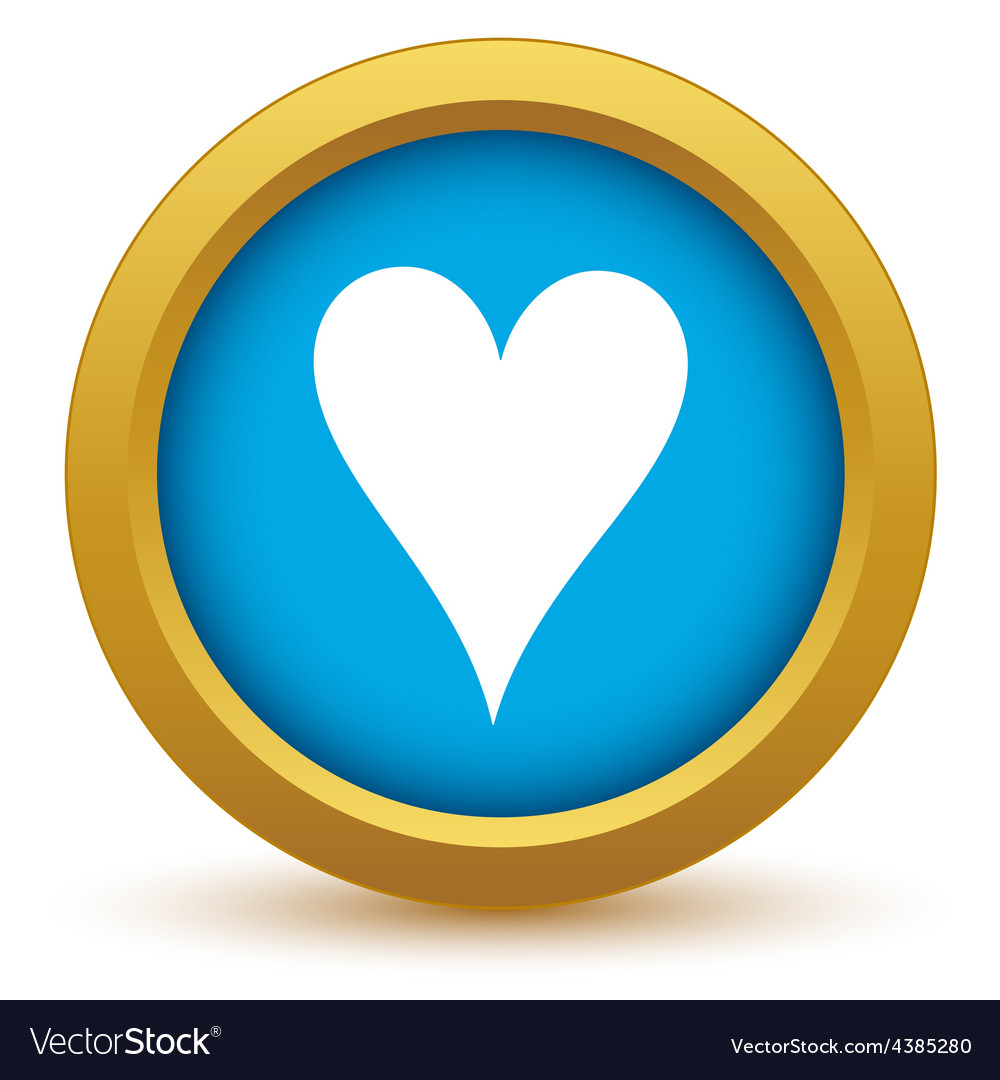 Gold heart card icon vector | Price: 1 Credit (USD $1)