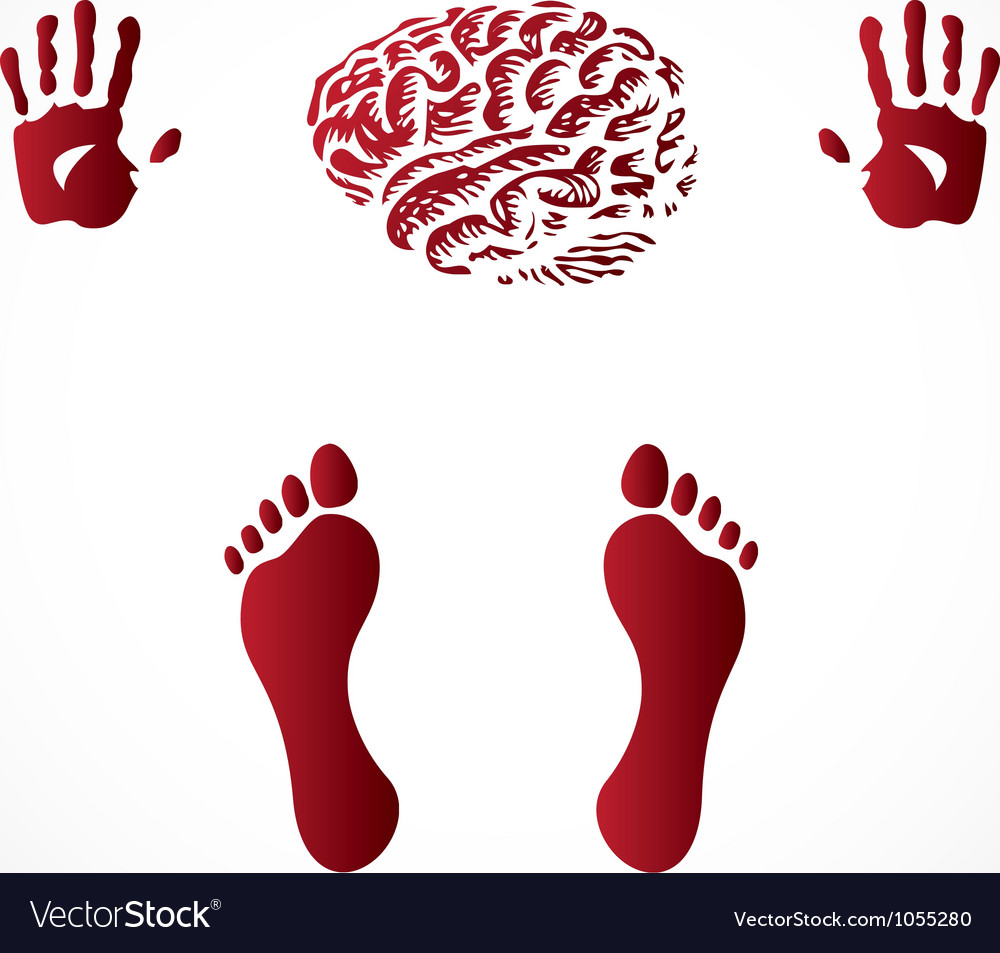 Hand and footprints vector | Price: 1 Credit (USD $1)