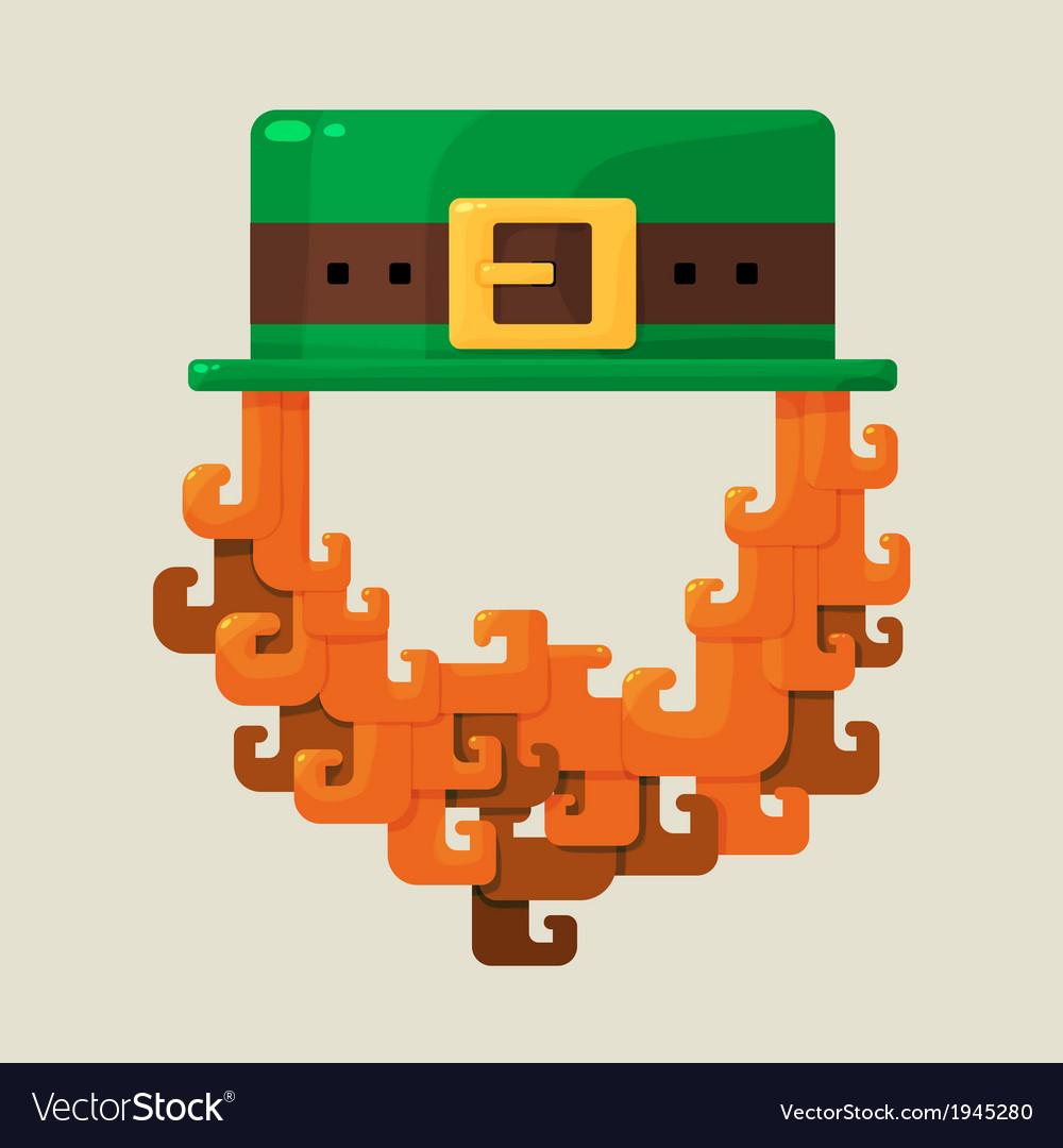 Irish st patricks day leprechaun icon vector | Price: 1 Credit (USD $1)