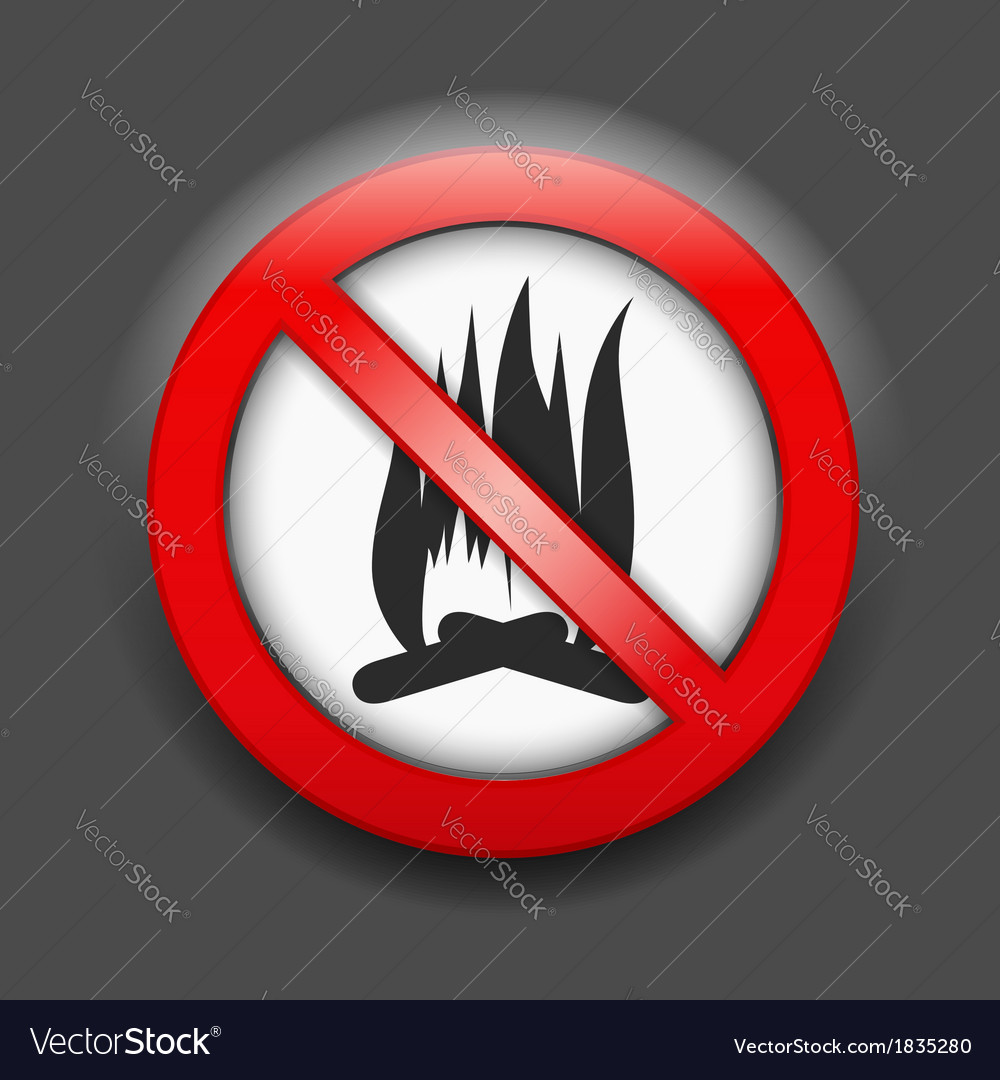 No fire sign vector   Price: 1 Credit (USD $1)