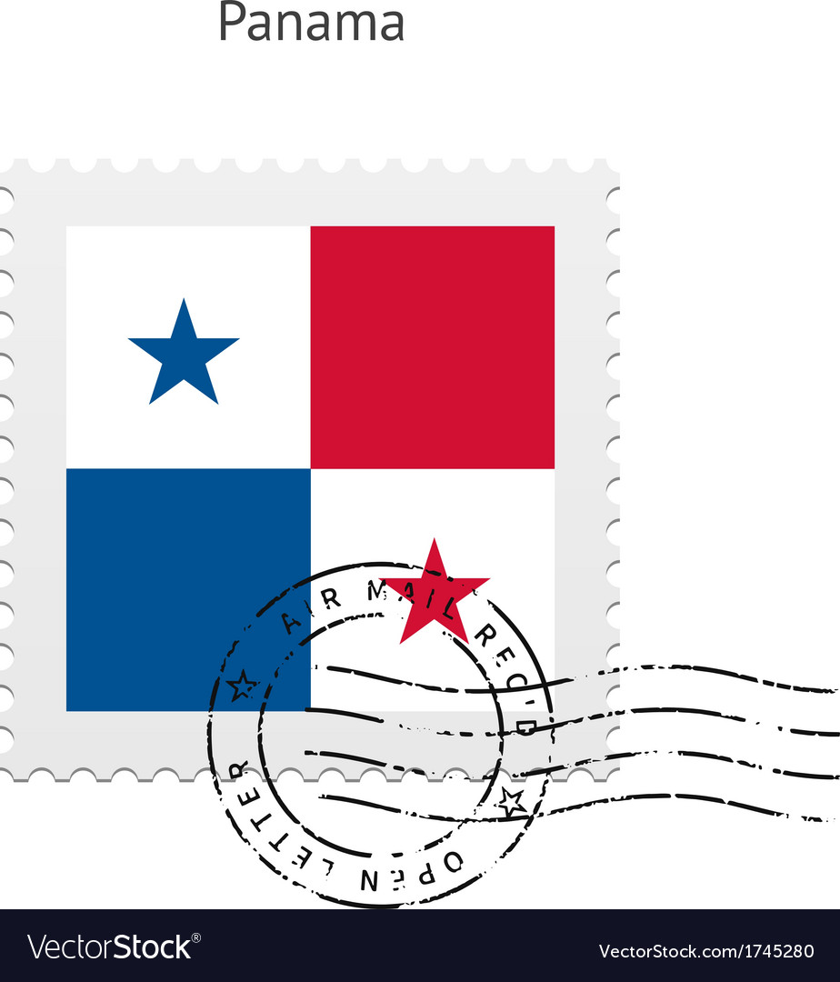 Panama flag postage stamp vector | Price: 1 Credit (USD $1)