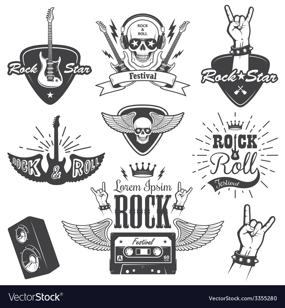 Rock 2 vector | Price: 1 Credit (USD $1)