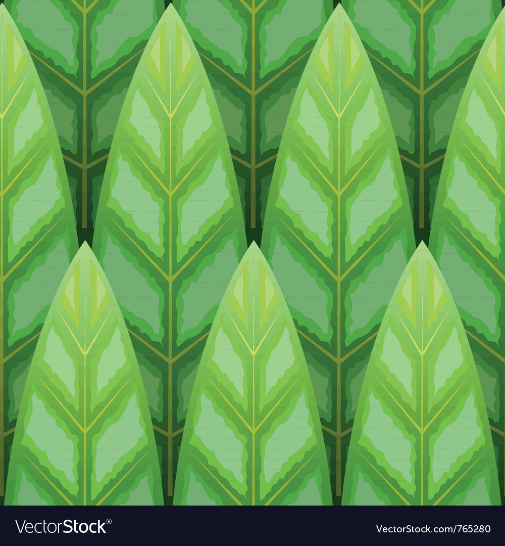 Seamless leaf background vector | Price: 1 Credit (USD $1)