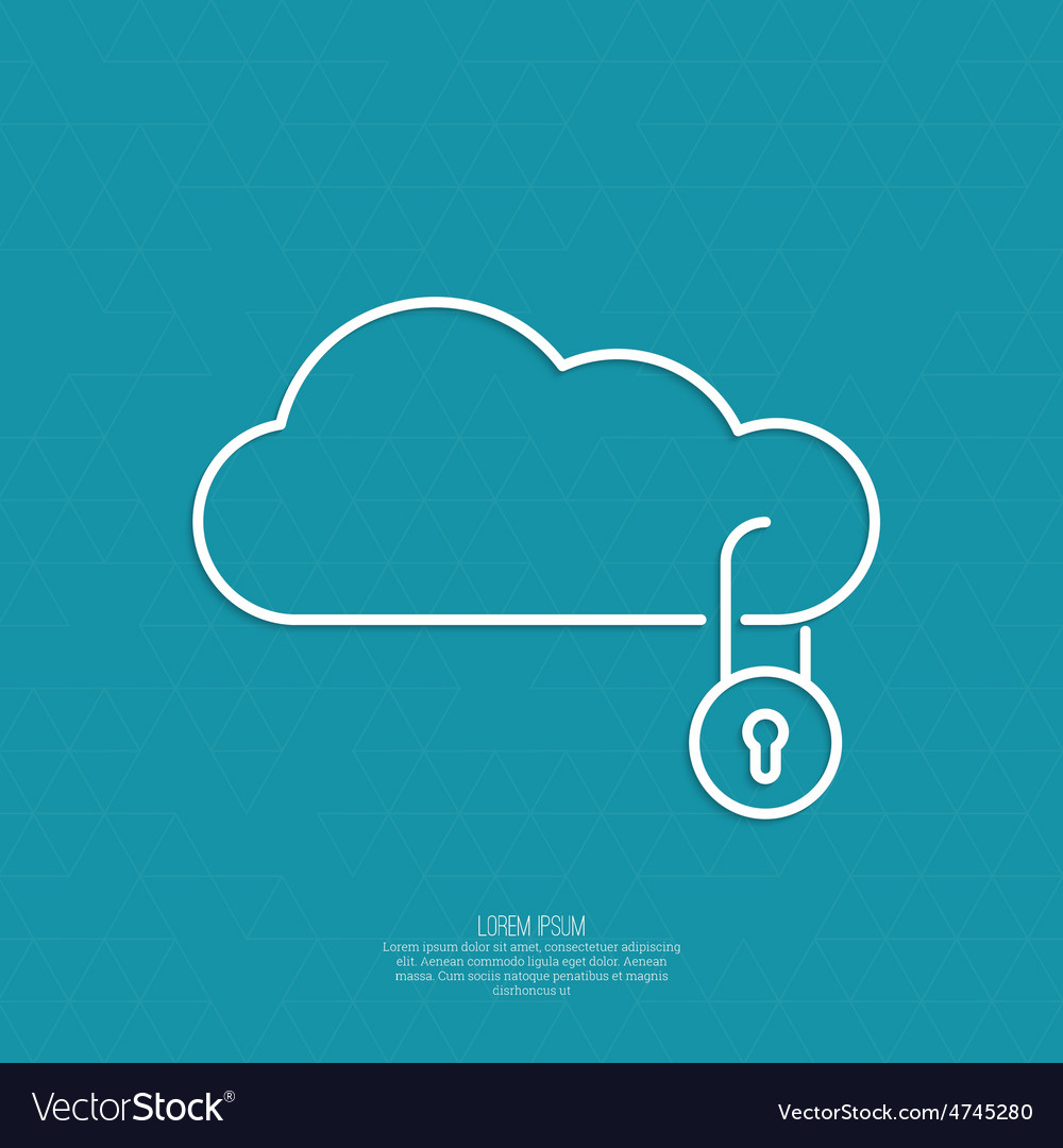 Secure cloud service vector | Price: 1 Credit (USD $1)