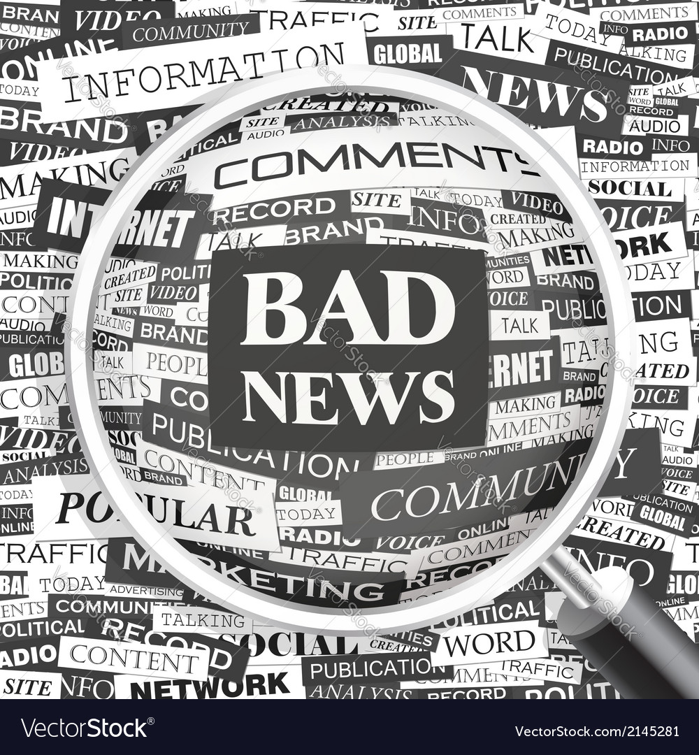 Bad news vector | Price: 1 Credit (USD $1)