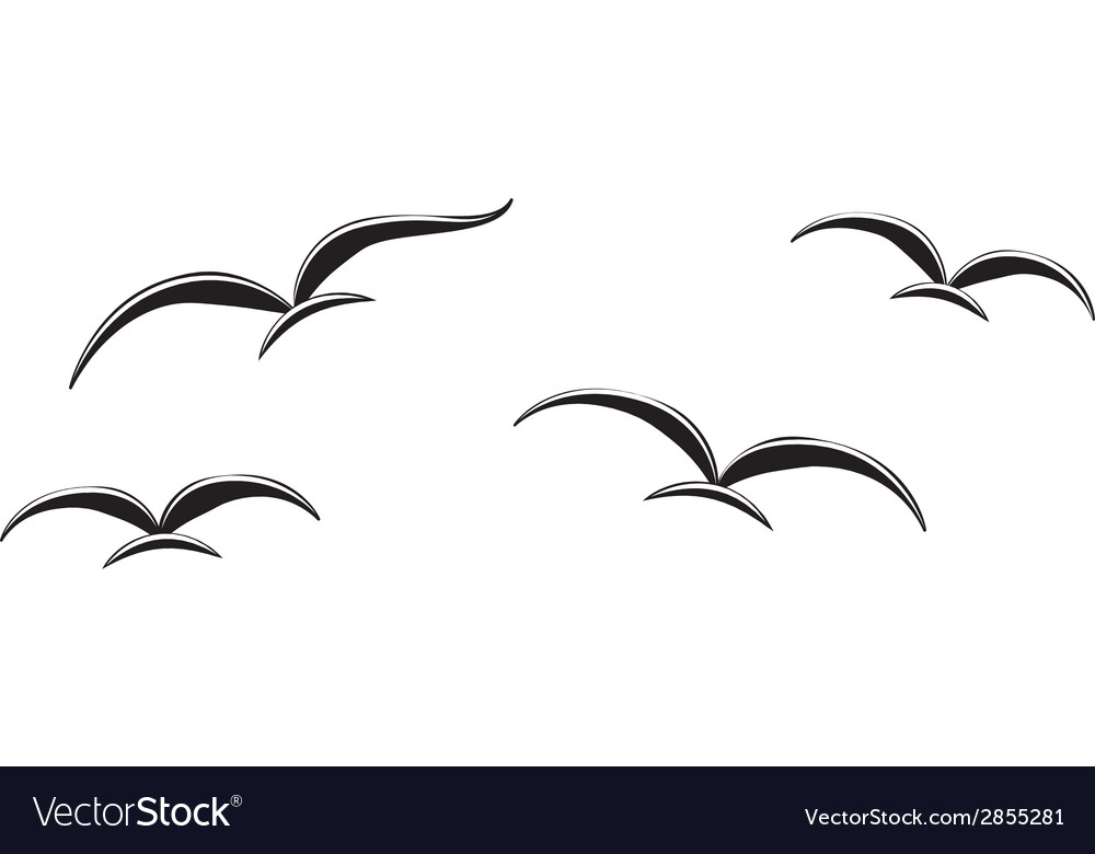 Birds in the sky vector | Price: 1 Credit (USD $1)