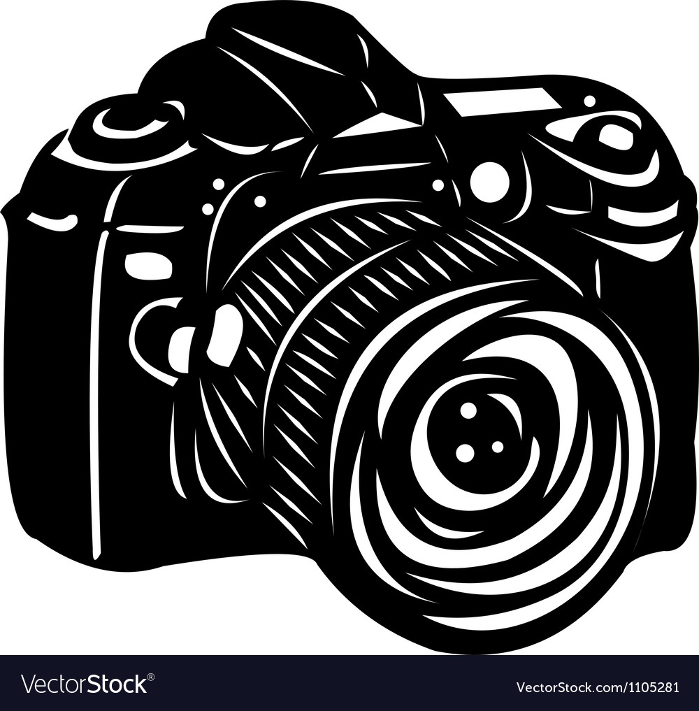 Black digital camera vector | Price: 1 Credit (USD $1)