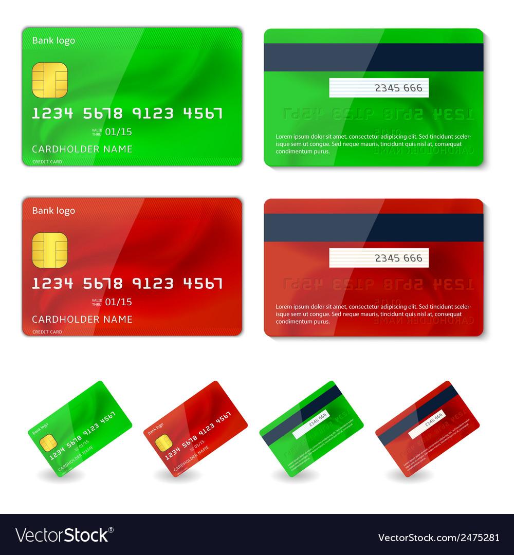 Credit cards design vector | Price: 1 Credit (USD $1)