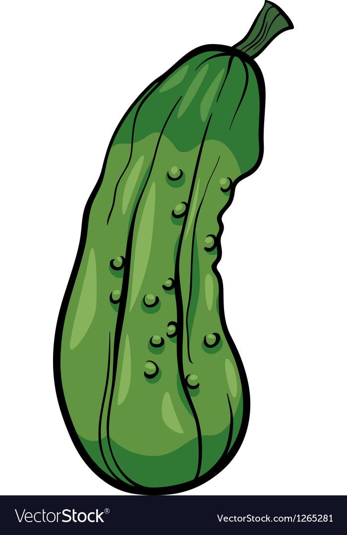 Cucumber vegetable cartoon vector | Price: 1 Credit (USD $1)