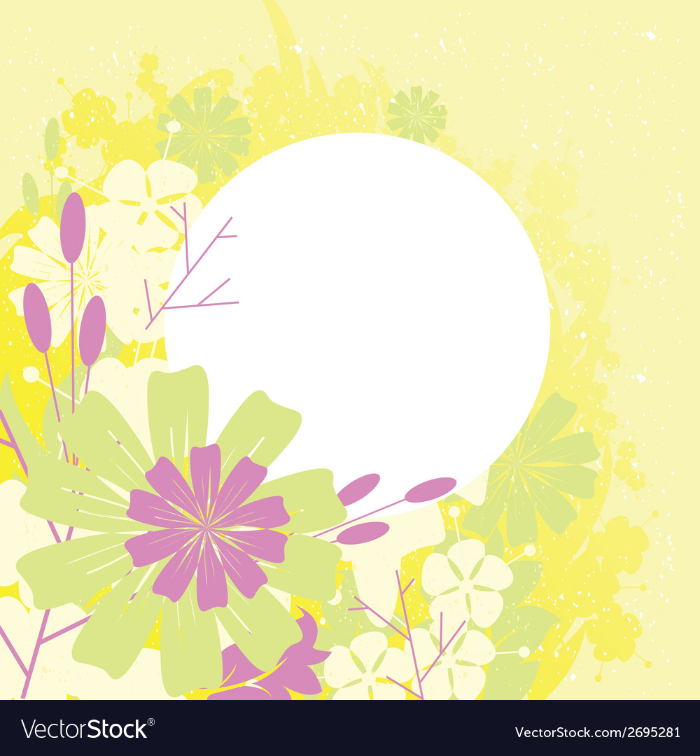 Frame design with flowers vector   Price: 1 Credit (USD $1)