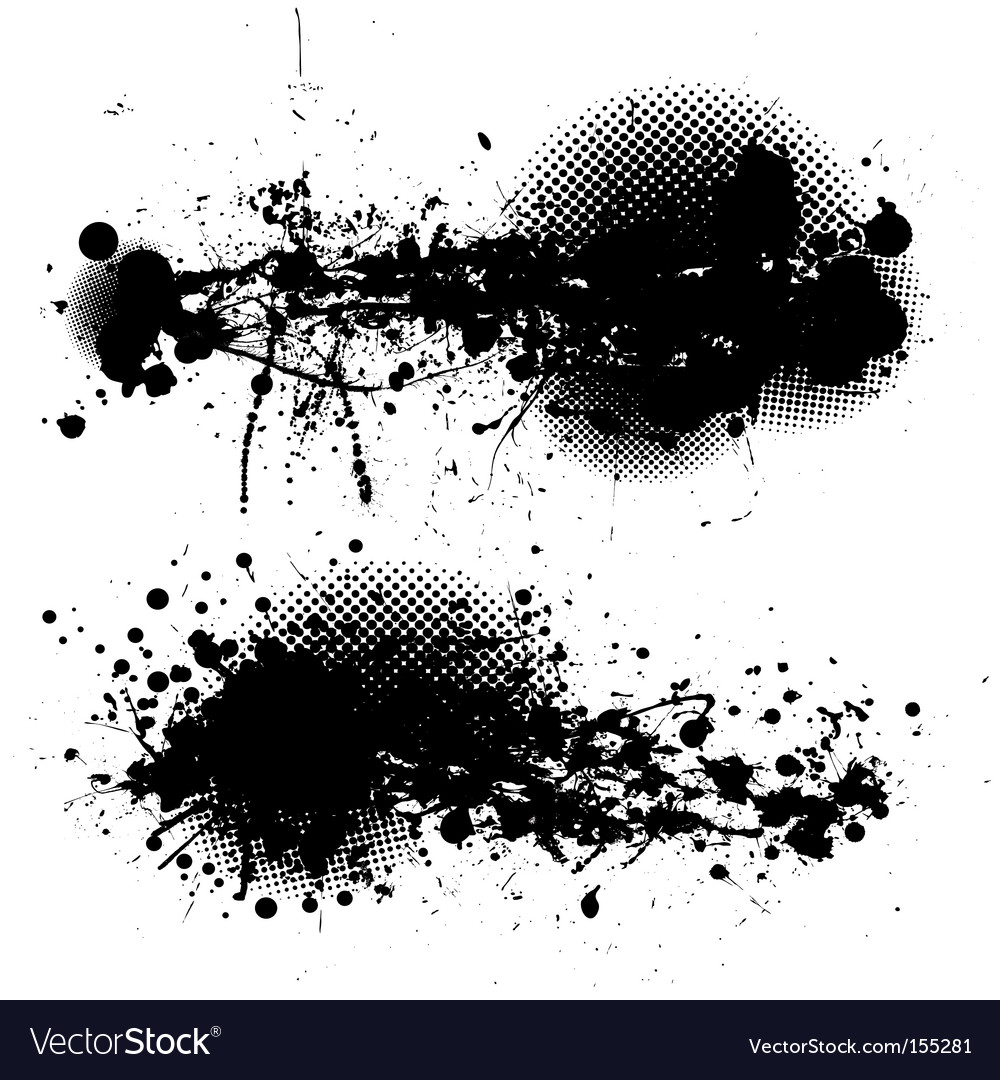 Grunge ink splat pair vector | Price: 1 Credit (USD $1)