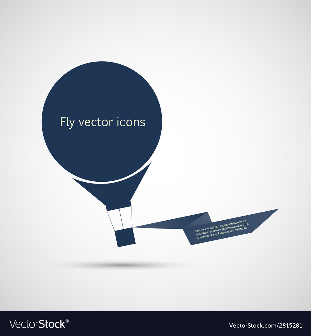 Icon flat balloon and ribbon for your text vector | Price: 1 Credit (USD $1)