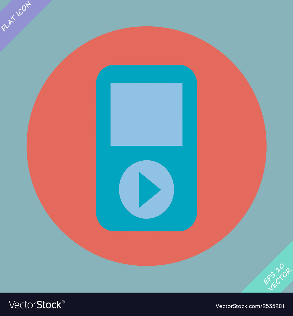 Portable musical player - vector | Price: 1 Credit (USD $1)