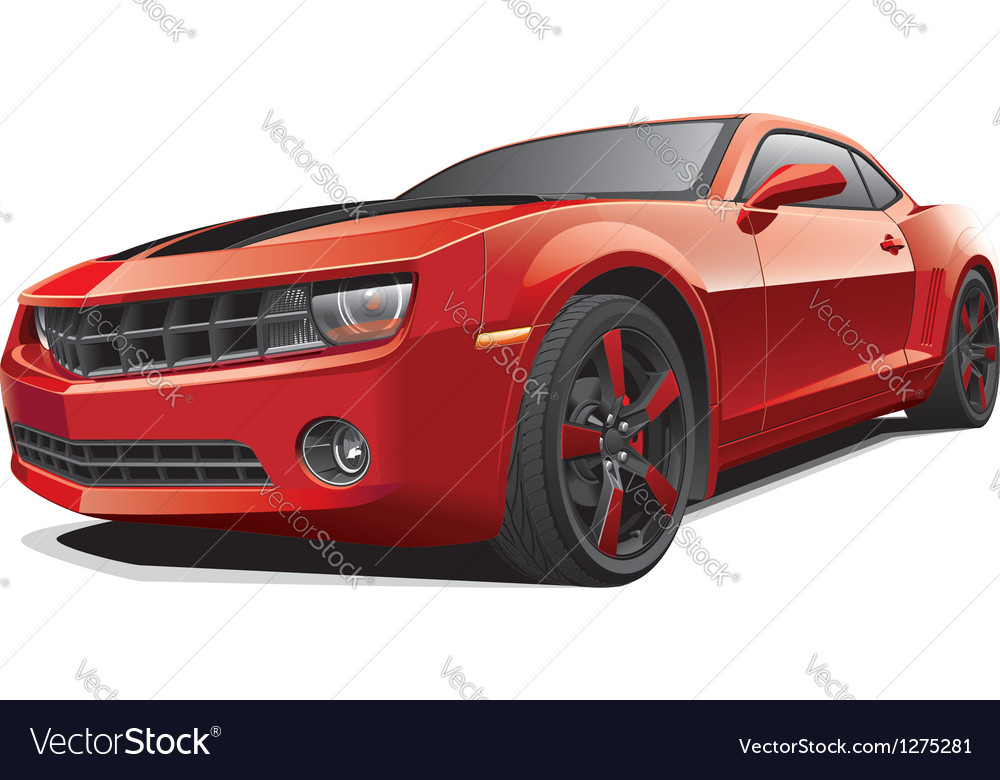 Red muscle car vector | Price: 5 Credit (USD $5)