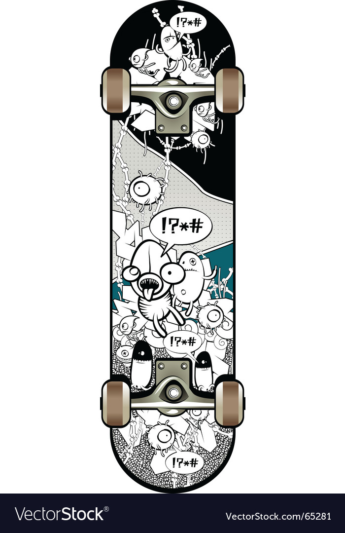 Strange graffiti skateboard vector | Price: 3 Credit (USD $3)