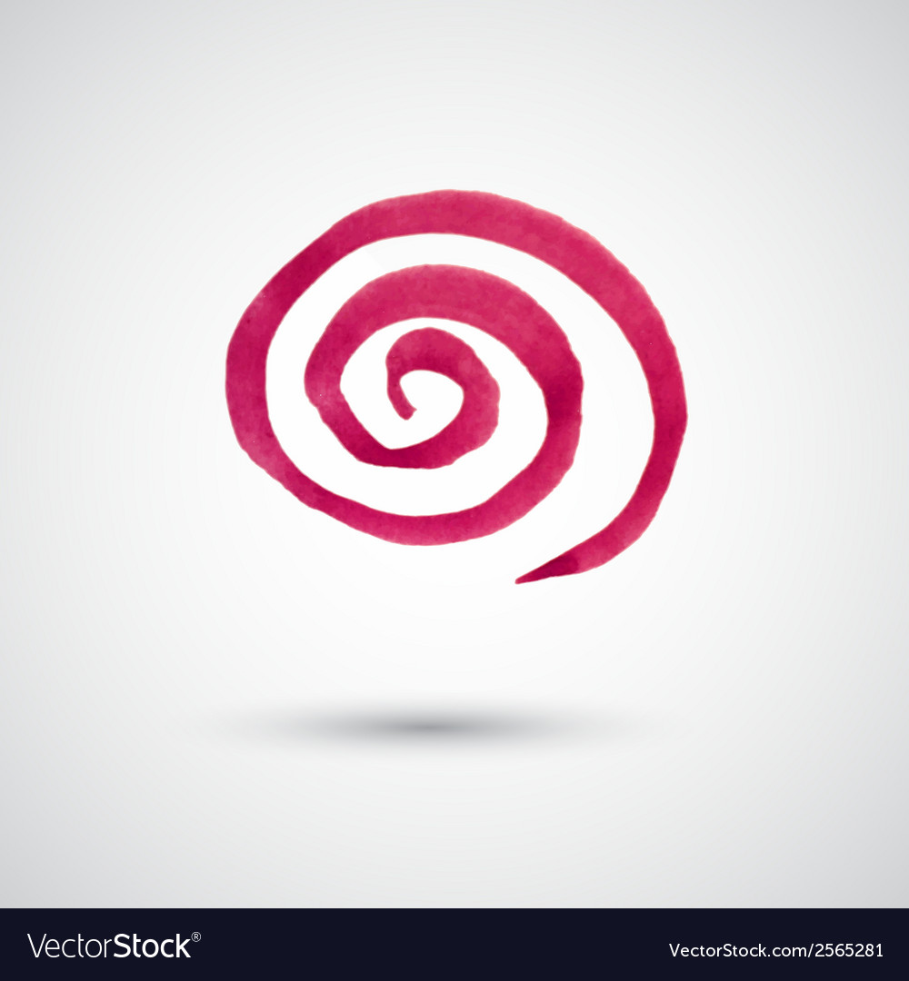 Watercolor spiral design element vector | Price: 1 Credit (USD $1)