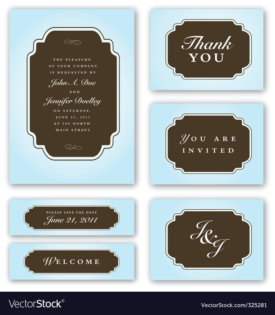 Wedding invitation vector | Price: 3 Credit (USD $3)