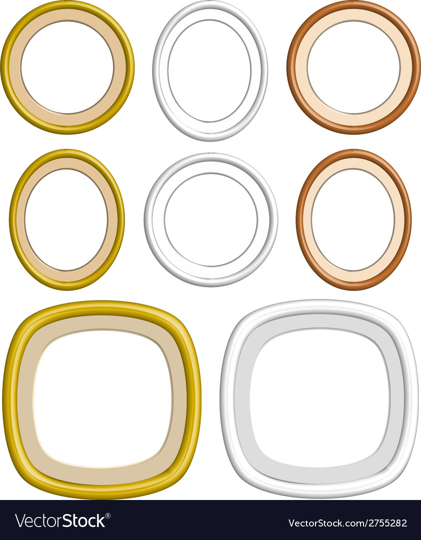 3d circle frame vector | Price: 1 Credit (USD $1)