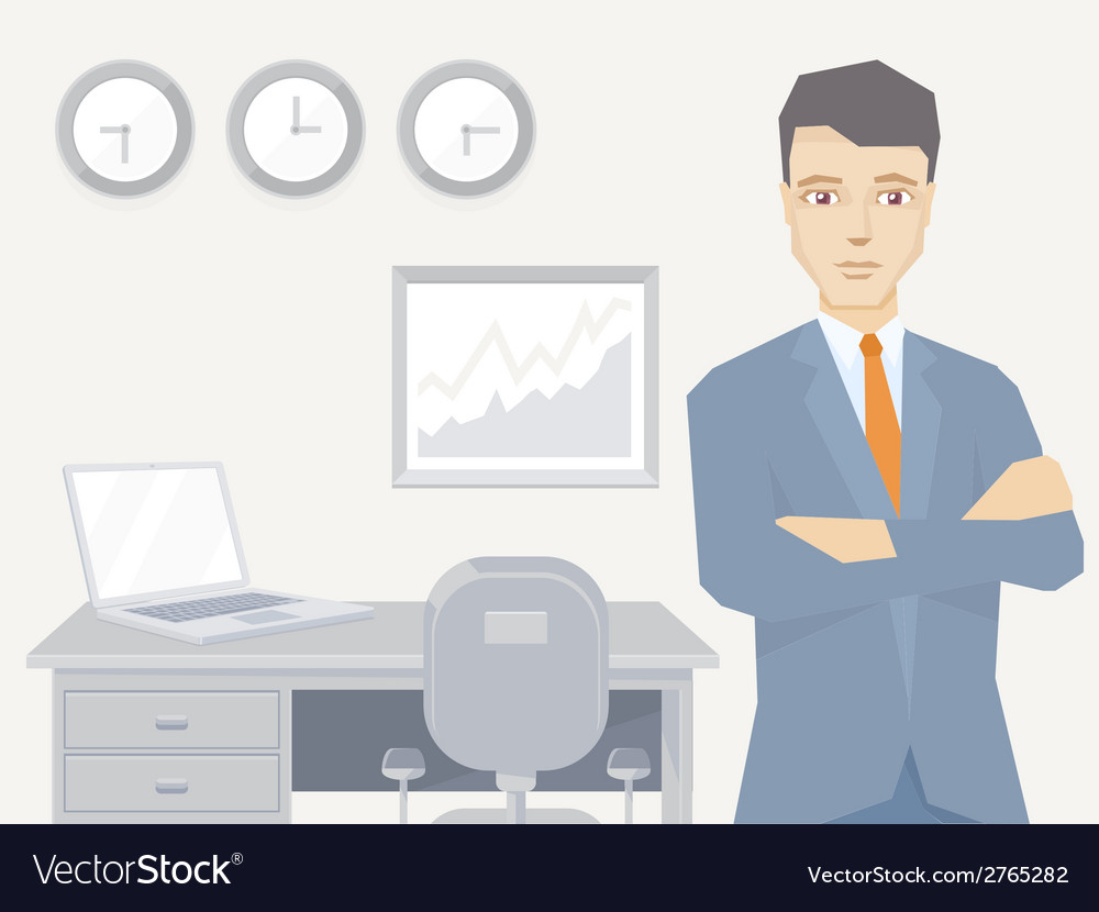 A portrait of the leader of a businessman vector | Price: 1 Credit (USD $1)