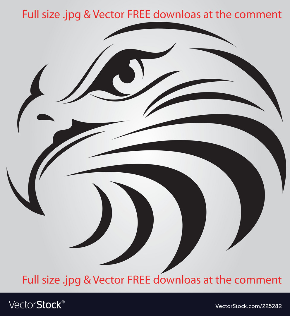 Eagle face silhouette vector | Price: 1 Credit (USD $1)